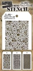 MTHS046 Stampers Anonymous Tim Holtz Layering Stencil - Mini Stencil Set #46